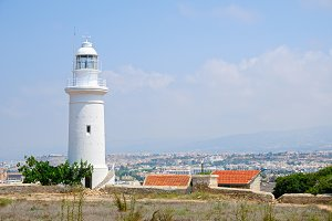 Lighthouse near city of Paphos
