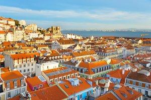Skyline of Lisbon Portugal