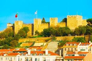 Famous Lisbon Castle Portugal