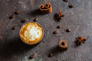 Butterfly latte art