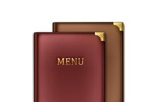 Two menu book holders
