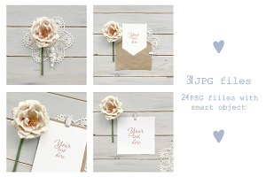 """Pink peony""  - large set of mockups"