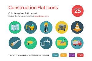 Construction Flat Icons Set