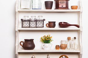 Shelves in rustic style