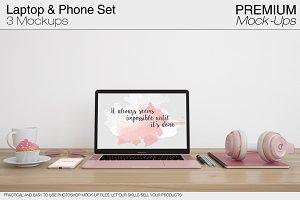 Laptop & Phone Mockup Pack - Apple