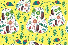 2 fruit seamless patterns