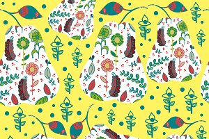 2 fruit seamless patterns
