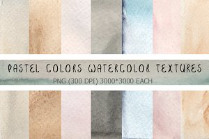 8 Watercolor pastel textures