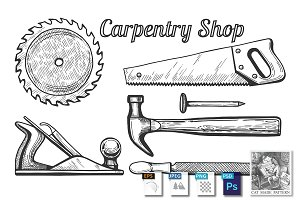 Woodworking or carpentry tools