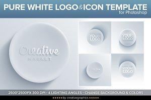 Pure White Logo & Icon Template