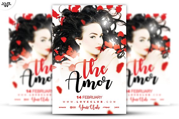 THE LOVE FLyer Template-Graphicriver中文最全的素材分享平台