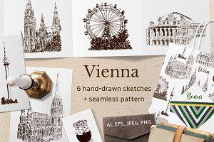 Set of Vienna sketches