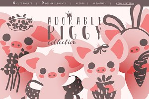 Adorable Piglets Collection