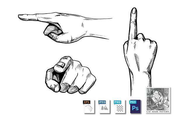 pointing hands pre designed photoshop graphics creative market pointing hands