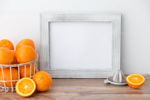 Citrus with White Frame Styled Mock