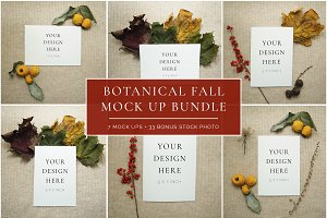 Botanical Fall Mock Up Bundle +Bonus