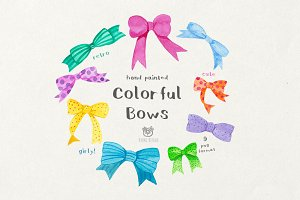 Cute Watercolor Bows