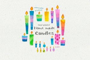 Gradient Candles illustration