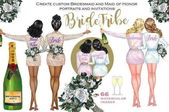 Bride Tribe Customizable Clipart