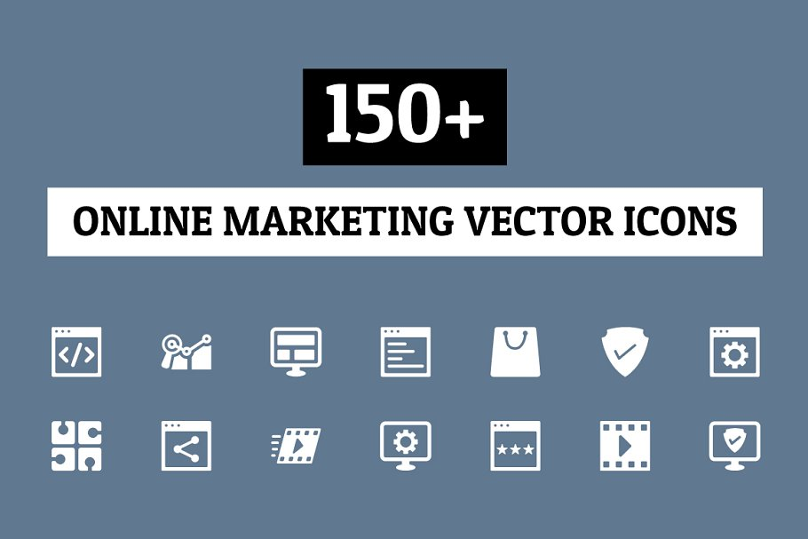 150+ Online Marketing Icons
