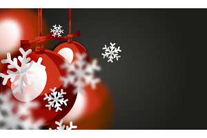 Christmas ball greeting card, New Year
