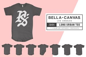 Bella Canvas 3006 Long Urban T-Shirt