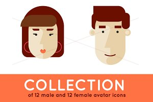 Avatars male and female.