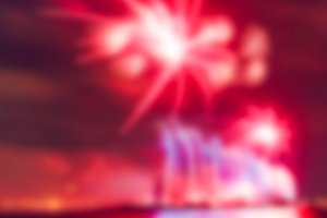 Colorful fireworks - blurred image