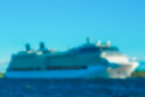 Cruise liner - blurred image