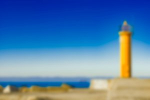 Yellow lighthouse - blurred image