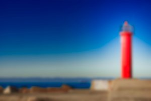 Red lighthouse - blurred image