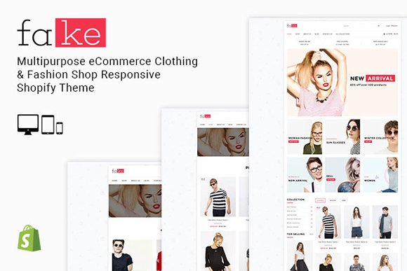 Fake Responsive Shopify Theme