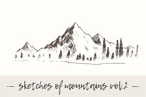 Set of sketches of mountains, vol. 2