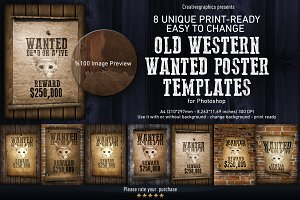 Old Western Wanted Poster Templates