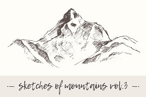 Set of sketches of mountains, vol. 3