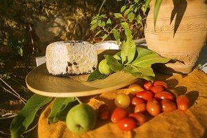 Pecorino cheese and tomatoes
