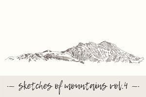 Set of sketches of mountains, vol. 4