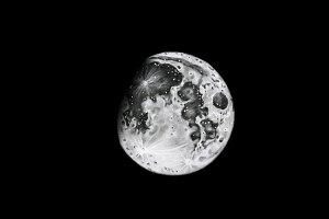 Lunar phase illustration (PSD)