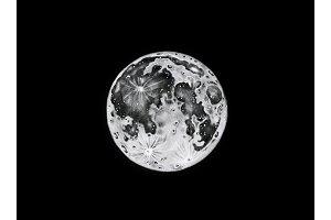 Lunar phase illustration