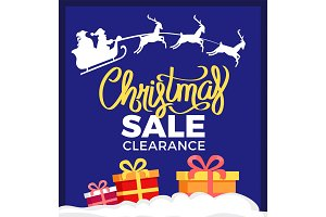 Christmas Sale Clearance Card Vector Illustration