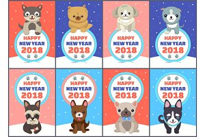 Happy New Year 2018 Congrats Vector Illustration