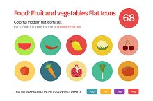 Food: Fruit and vegetables Flat Icon