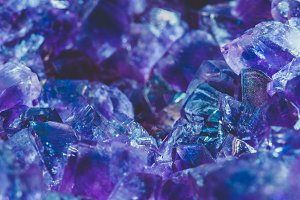 The crystal of Amethyst stone