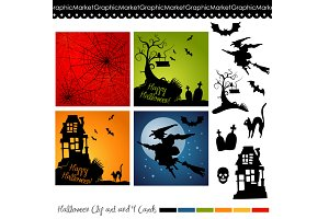 Halloween Clip Art and backgrounds