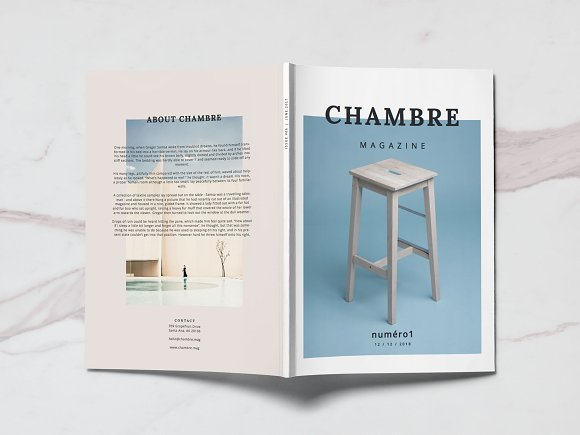 Chambre magazine template-Graphicriver中文最全的素材分享平台