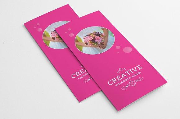 wedding planner trifold brochure templates creative market