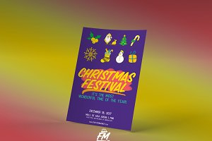 Christmas Festival Flyer Template