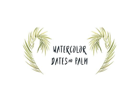 Watercolor Dates & Palms