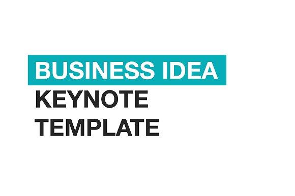 Business idea keynote template presentation templates creative business idea keynote template presentations flashek Gallery