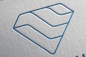 Modern Diamond Line Logo